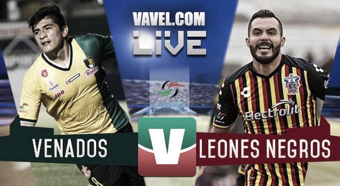 Resultado y goles del Venados 1-1 Leones Negros del Ascenso MX 2017