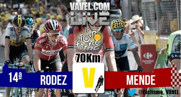 Posiciones etapa 14 del Tour de Francia 2015: Rodez - Mende