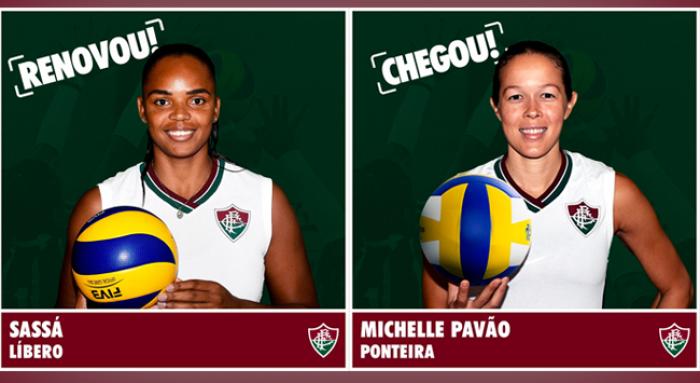 Mercado do vôlei: Fluminense anuncia contratação de Michelle Pavão e renovação de Sassá