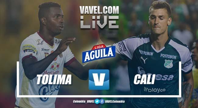 Deportes Tolima vs Deportivo Cali por la Liga Aguila 2019-I (1-1)