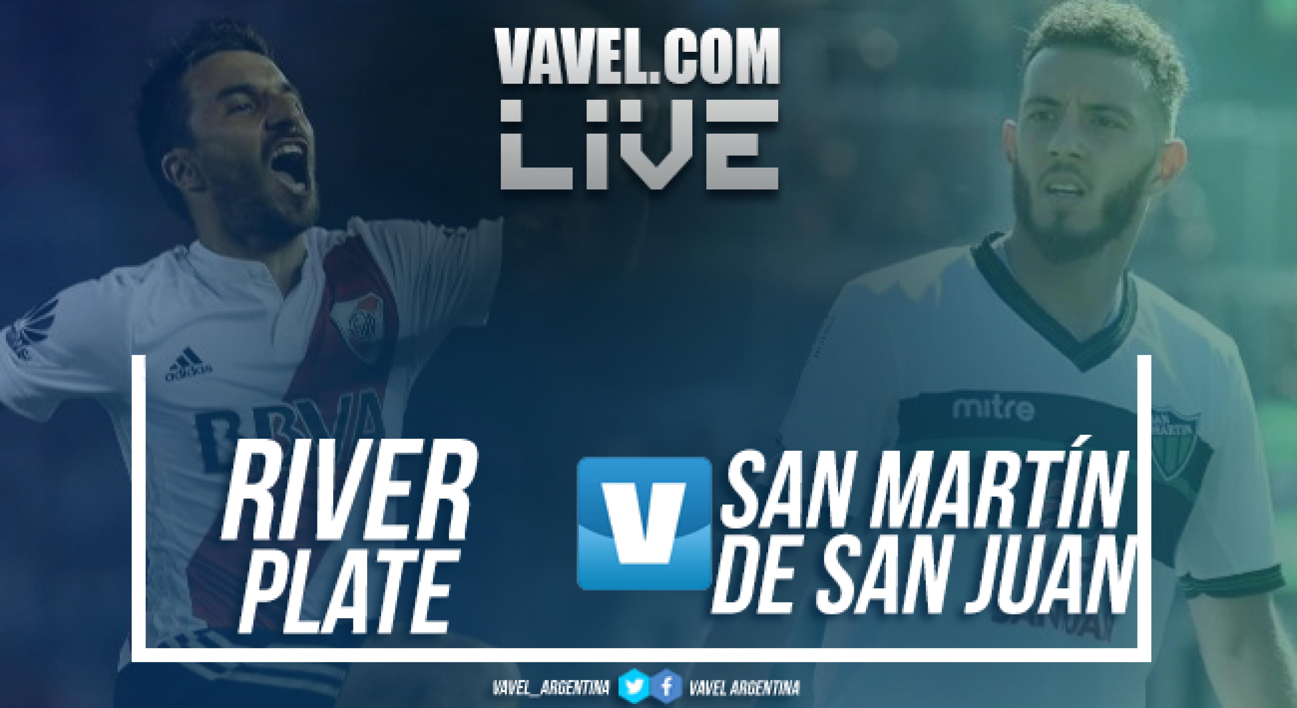 River Plate vs San Martín de San Juan en vivo por Superliga (4-1)