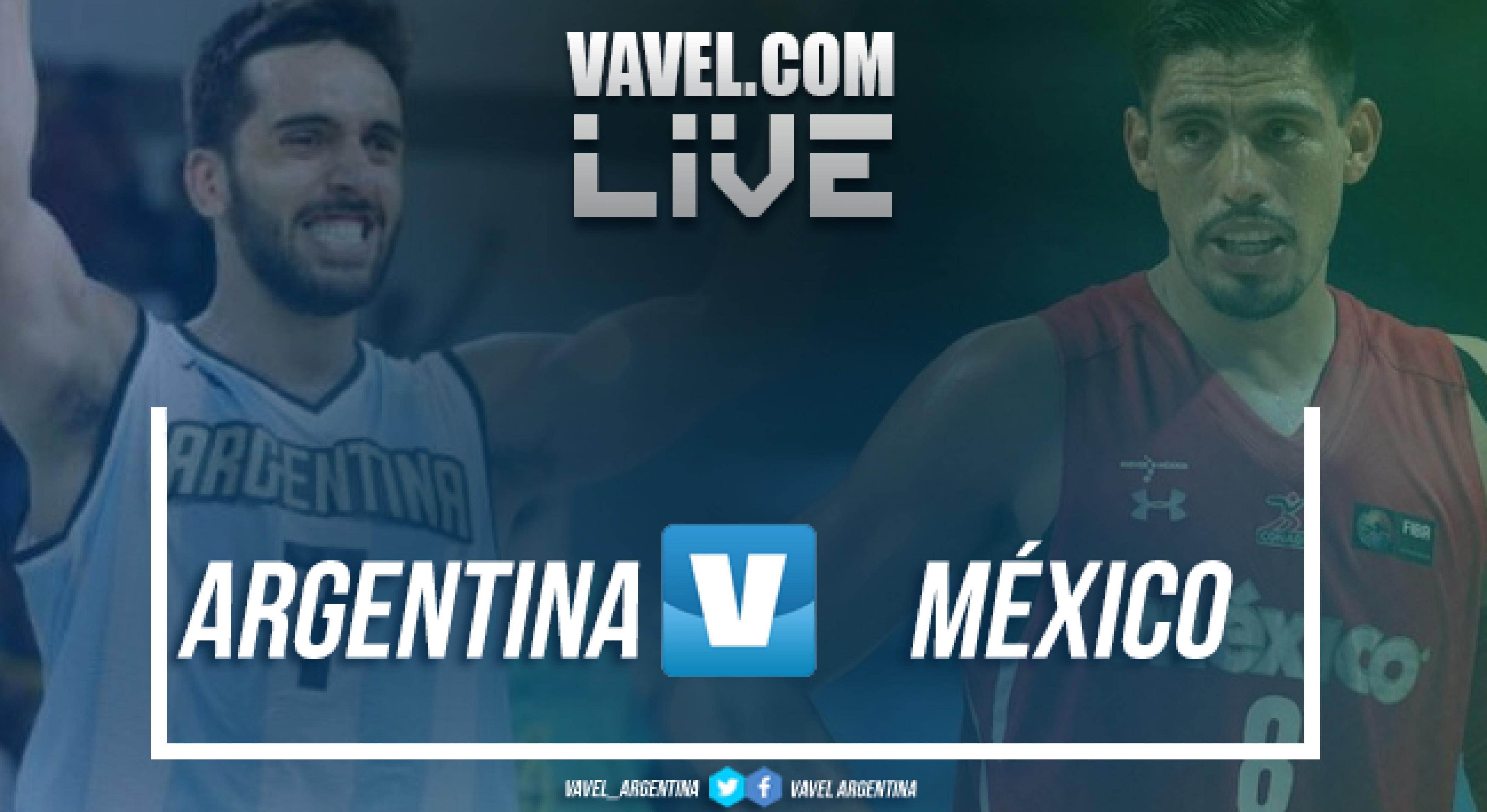 Resumen Argentina 78 vs 74 México en vivo y en directo online en las Eliminatorias FIBA