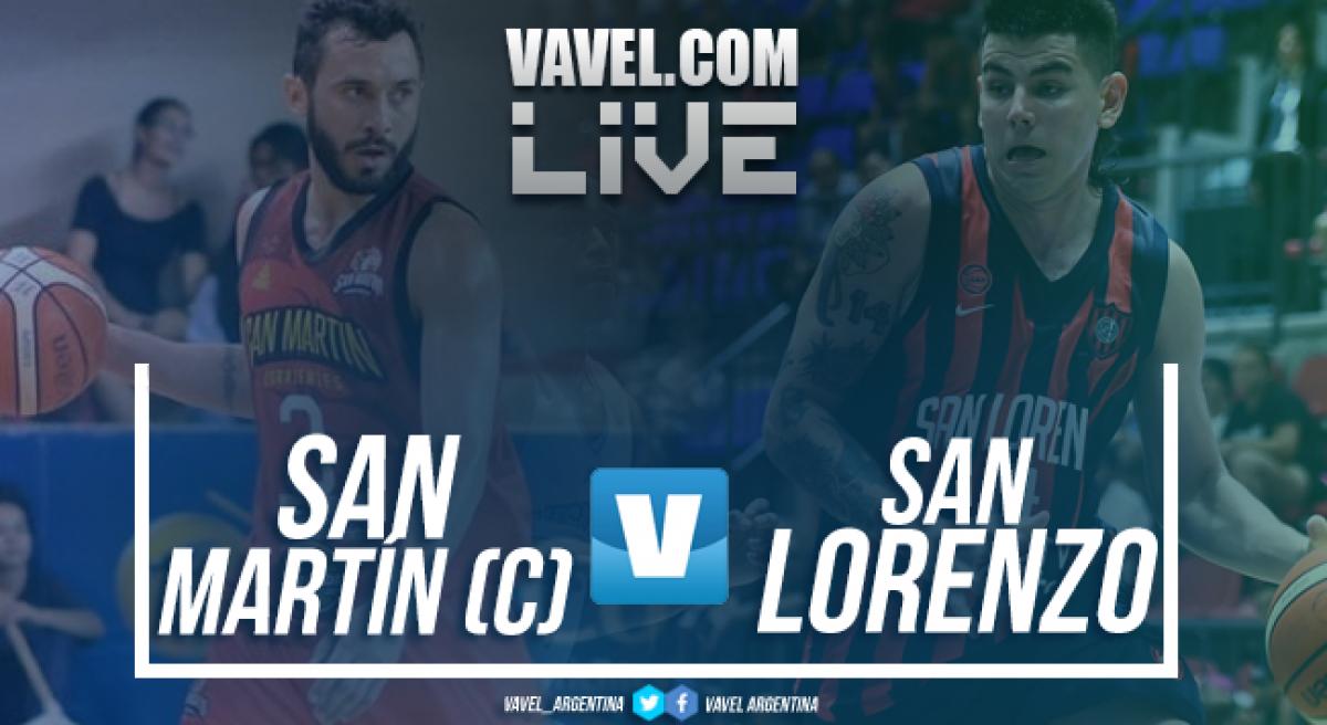 Resumen: San Martín vs San Lorenzo en vivo y en directo online en las Finales de la Liga Nacional 2018 (56-72)