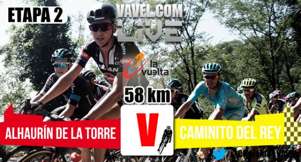 Resultado de la segunda etapa de la Vuelta a España 2015: Alhaurín de la Torre - Caminito del Rey