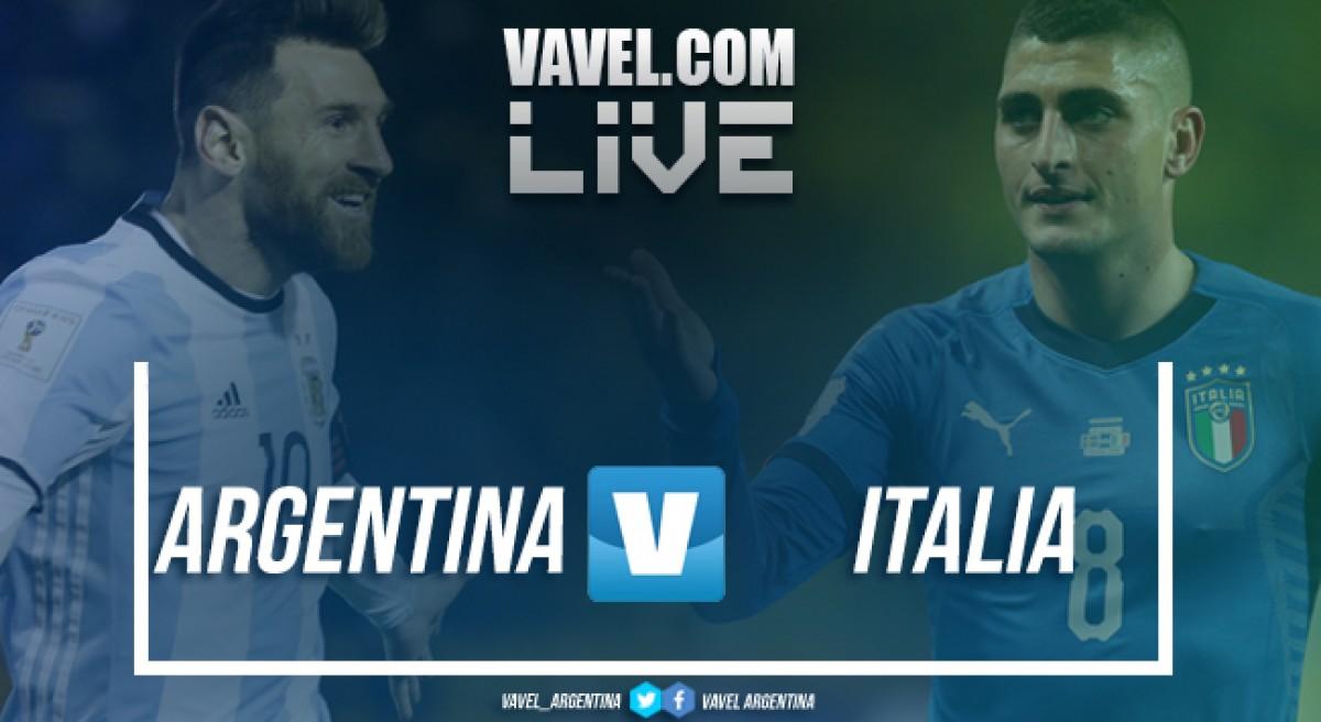 Resultado Argentina 2-0 Italia en amistoso internacional