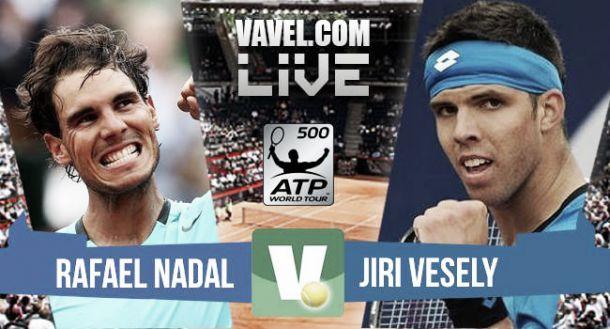 Resultado Rafael Nadal vs Jiri Vesely en ATP 500 Hamburgo (2-0)