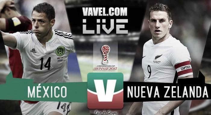 México sufre para ganarle a Nueva Zelanda