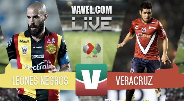 Resultado Leones Negros - Veracruz en Liga MX 2015 (1-2)