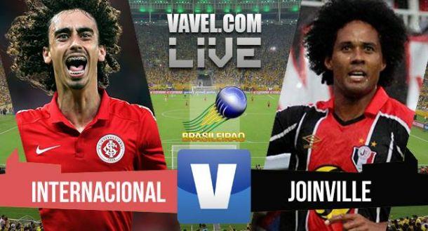 Resultado Inter x Joinville no Brasileirão 2015 (1-0)