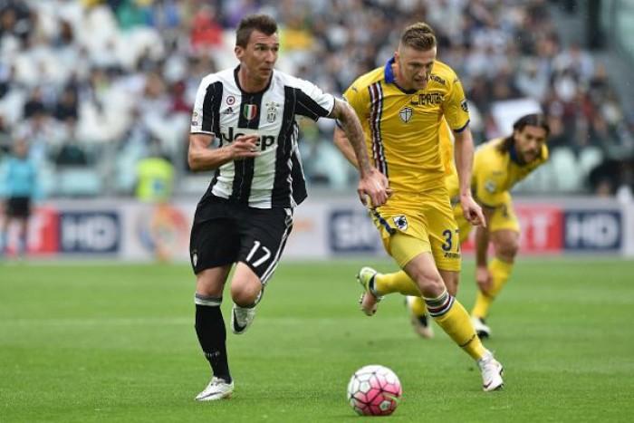 Juventus - Sampdoria terminata in Serie A 2016/17 (4-1): Chiellini x2, prima Mandzukic, in mezzo Pjanic