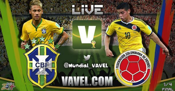 Live Brasile - Colombia, Mondiali 2014 in diretta
