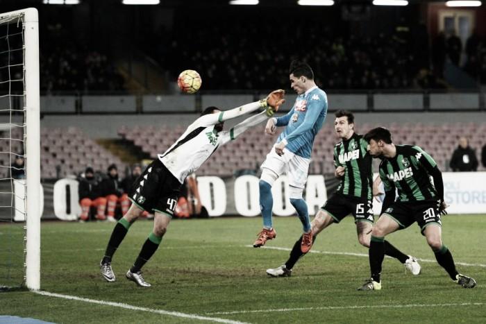 Napoli - Sassuolo in Serie A 2016/17 (1-1): il Napoli si ferma ancora!