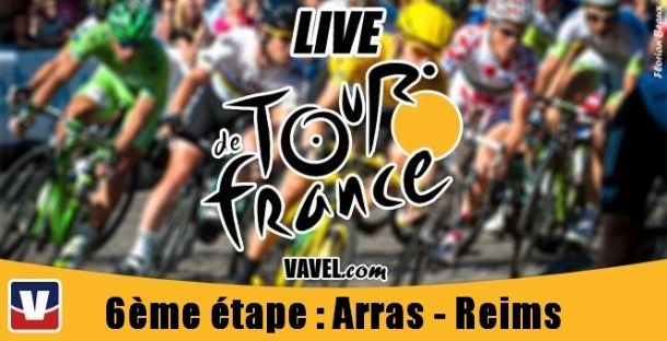 Live Tour de France 2014, la 6ème étape (Arras - Reims) en direct