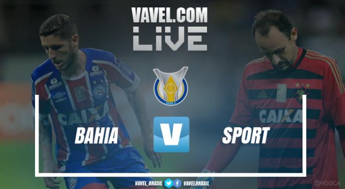 Resultado Bahia x Sport pelo Campeonato Brasileiro 2017 (1-3)