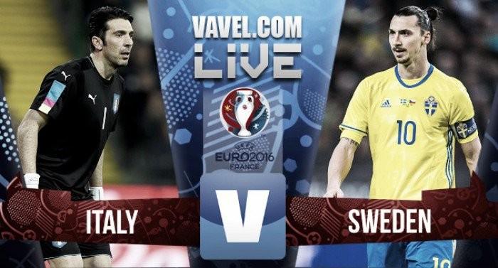 Resultado Itália x Suécia pela Eurocopa 2016 (1-0)