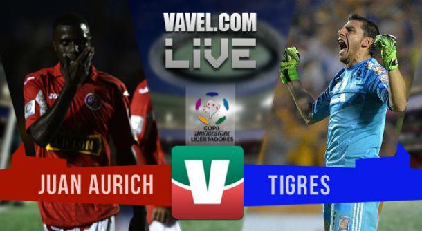Resultado Juan Aurich - Tigres en Copa Libertadores 2015 (4-5)