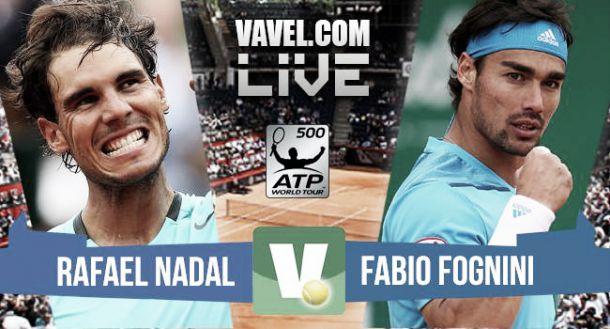 Resultado Rafael Nadal vs Fabio Fognini en ATP 500 Hamburgo 2015 (2-0)