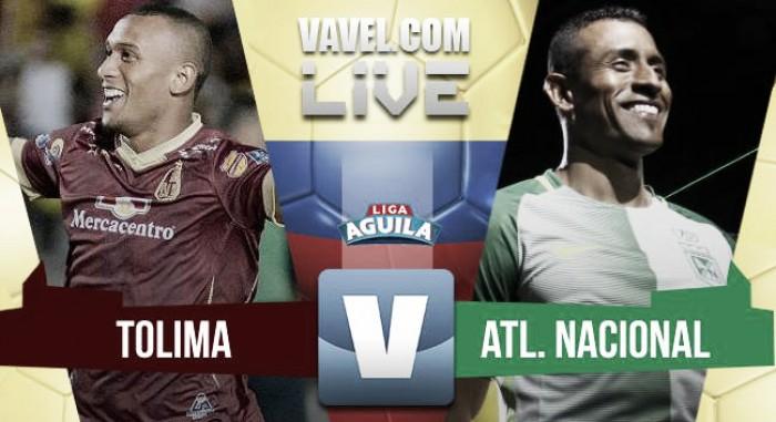 Nacional igualó sin goles ante Tolima y se aleja de la cima