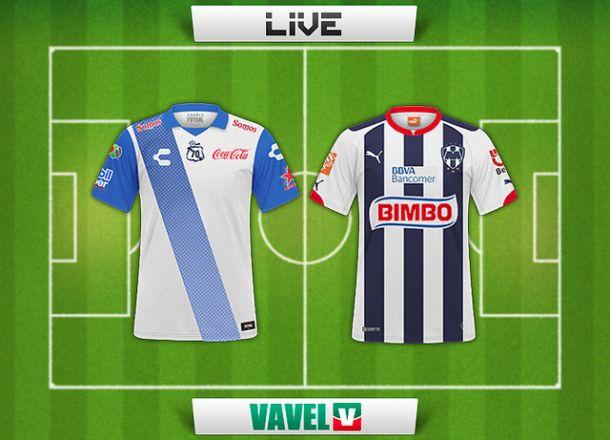 Resultado Puebla - Rayados de Monterrey en Liga MX 2015 (2-0)