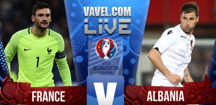 Resultado França x Albânia pela Eurocopa 2016 (2-0)