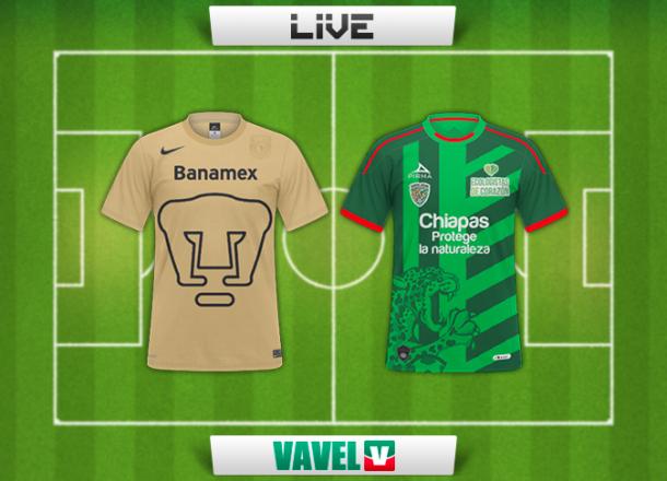Resultado Pumas - Chiapas en Liga MX 2014 (2-2)