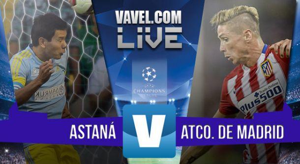 Resultado Astana - Atlético de Madrid en UCL 2015 (0-0)
