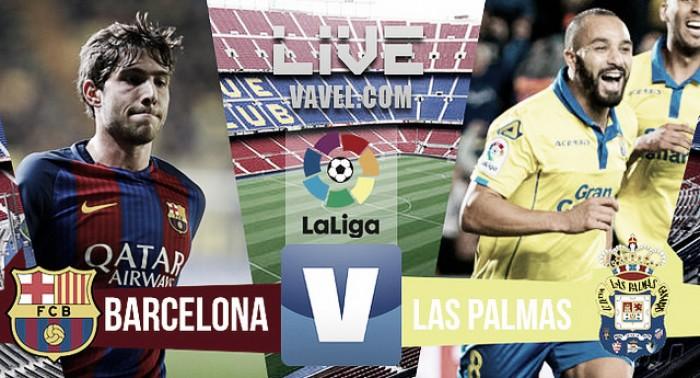 Resultado Barcelona x Las Palmas pelo Campeonato Espanhol 2017 (3-0)