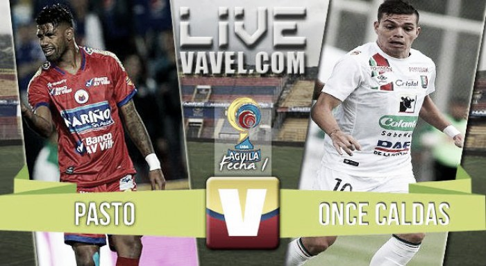 Resultado Pasto vs Once Caldas en Liga Aguila 2016 (1-2)