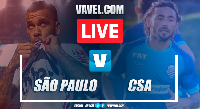 Assistir jogo São Paulo x CSA AO VIVO online pelo Campeonato Brasileiro 2019 (1-1)