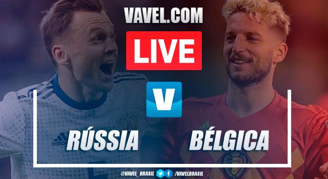 Melhores momento de Rússia x Bélgica pelas Eliminatórias Euro 2020 (1-4)