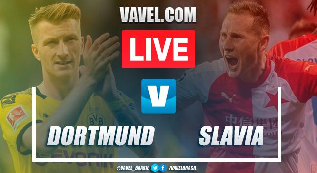 Gols e melhores momentos de Borussia Dortmund x Slavia Praga pela Uefa Champions League (2-1)