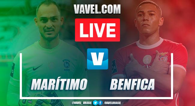 Gols e melhores momentos de Marítimo x Benfica na Liga NOS (2-0)