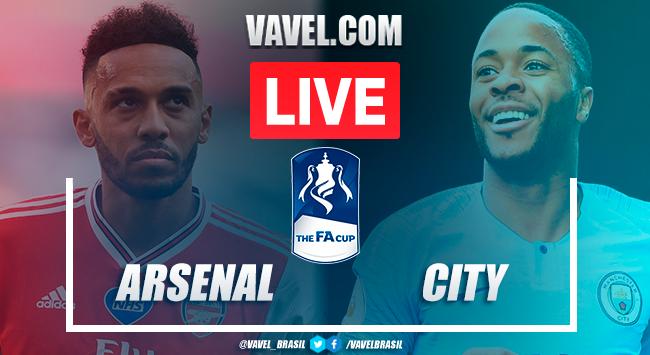 Gols e melhores momentos de Arseal e Manchester City na FA Cup (2-0)