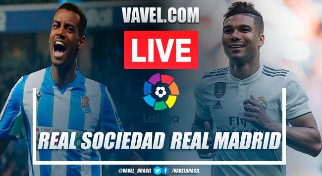 Real Sociedad vs Real Madrid EN VIVO online hoy en LaLiga 2020 (0-0)