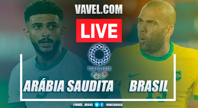 Gols e melhores momentos Arábia Saudita x BrasilOlimpíadas de Tóquio(1-3)