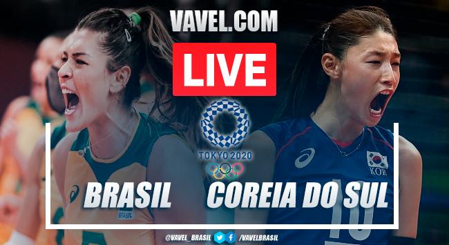 Melhores momentos Brasil x Coreia do Sul pelo vôlei feminino nas Olimpíadas de Tóquio