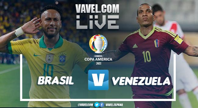 Resumen Brasil-Venezuela en la Copa América 2021