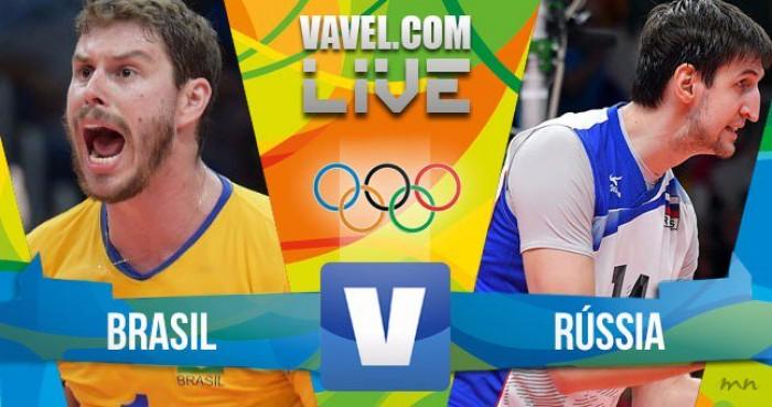 Resultado Brasil 3 x 0 Rússia no vôlei masculino dos Jogos Olímpicos