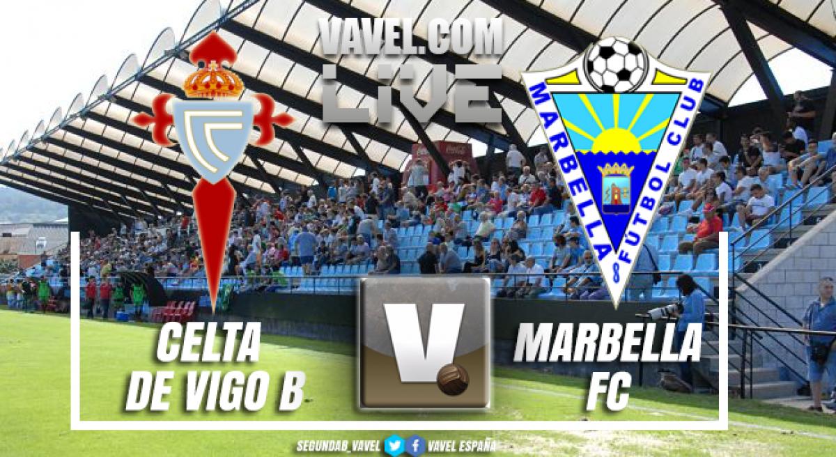 Resumen Celta de Vigo 2-0 Marbella Segunda División B