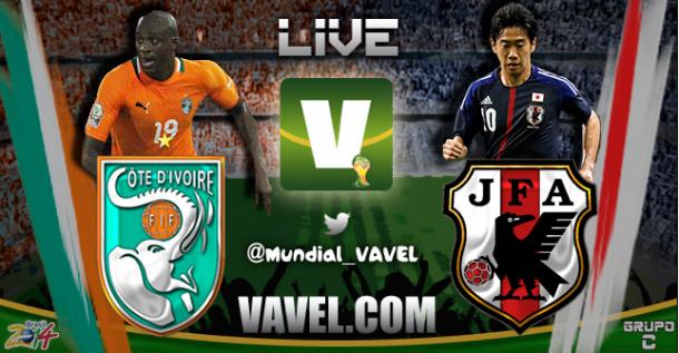 Live Costa d'Avorio - Giappone in partita dei Mondiali 2014