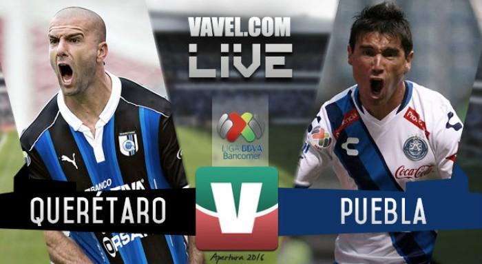 Partido Querétaro vs Puebla en vivo en Liga MX hoy (2-1)