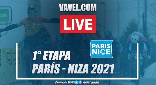 Resumen etapa 1 París-Niza 2021 en Saint-Cyr - l'École