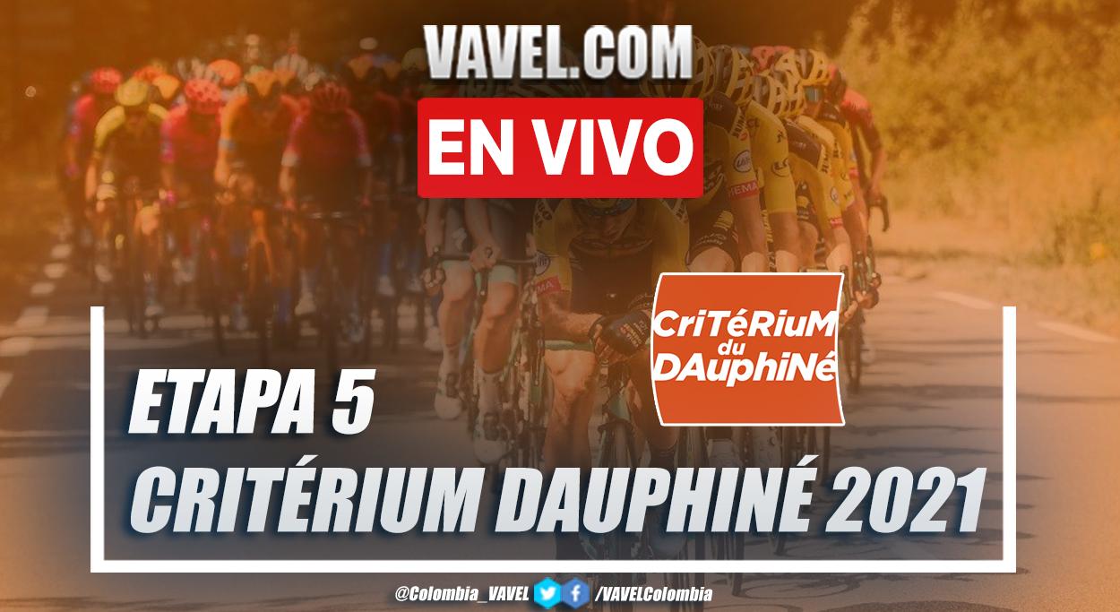 Resumen etapa 5 Criterium du Dauphiné 2021: Saint Chamond - Saint Vallier