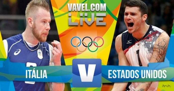 Itália vence os Estados Unidos no vôlei masculino dos Jogos Olímpicos (3-2)
