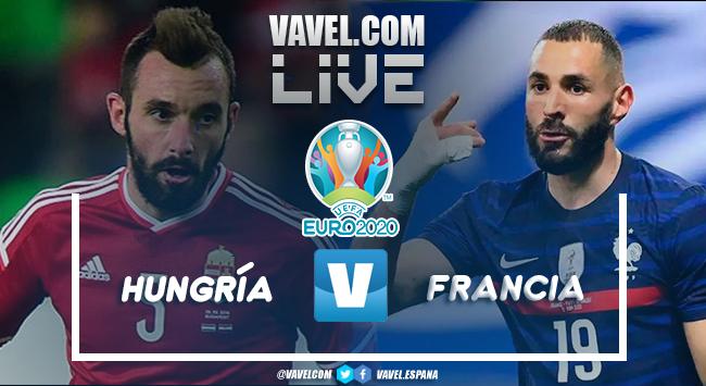 Resumen del Hungría - Francia en vivo y en directo online en la Eurocopa 2020 (1-1)
