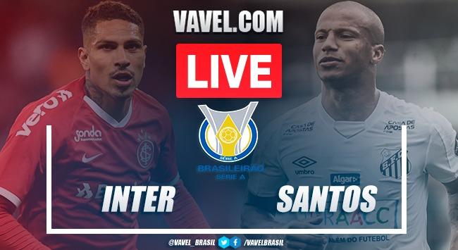 Internacional x Santos AO VIVO: assistir tempo real pelo Campeonato Brasileiro
