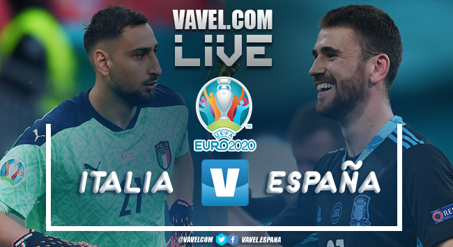 Resumen Italia vs España por la Eurocopa 2020 1 (4)-1 (2)