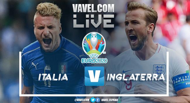 Resumen Italia vs Inglaterra por la Eurocopa 2020 1(3) - 1(2)