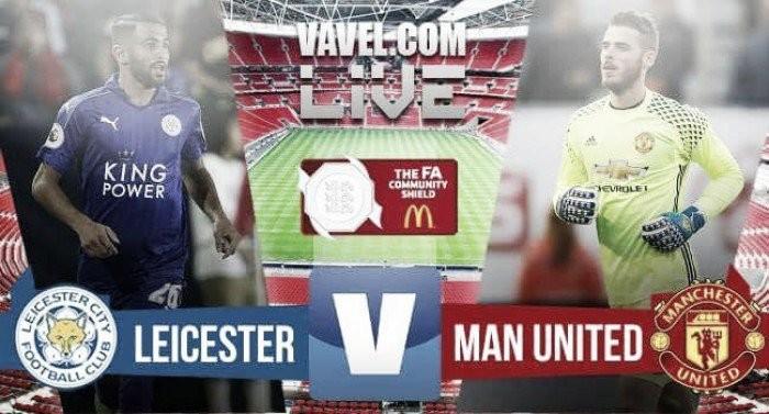 Resultado Leicester City x Manchester United pela Supercopa da Inglaterra (1x2)