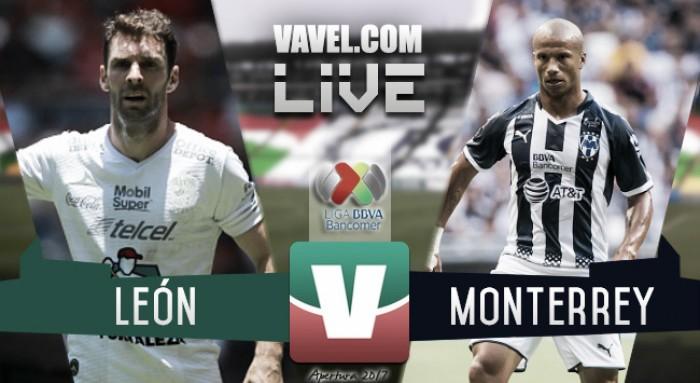 Resultado y goles del partido León 1-2 Monterrey en Liga MX 2017